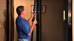 sliding glass door closer sliding security door installing a self closer youtube