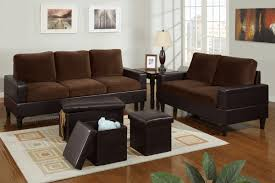 Bob Kona  Piece Livingroom Set In Chocolate Microfiber And - Microfiber living room sets