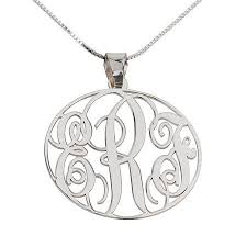 3 initial monogram necklace sterling silver 32 best monogram necklace images on monogram necklace