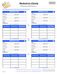 medication card template patient medication card template emergency kits