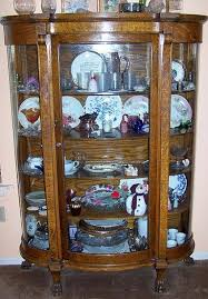 antique curio cabinet with curved glass amazing oak curio cabinets foter antique curved glass china cabinet