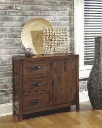 Accent Cabinets Ashley T500 430 Vennilux Accent Storage Cabinet Rustic Brown Finish