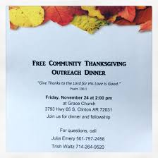 free community thanksgiving dinner clinton ar events