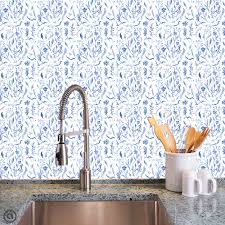 Temp Wallpaper by Removable Wallpaper Cobalt Toile Peel U0026 Stick Self Adhesive