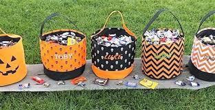 personalized trick or treat bags personalized trick or treat baskets 13 99 from 29 99