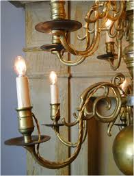 Colonial Chandelier Colonial Big Solid Brass Chandelier Light Fixture W 12 Arms Aged