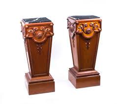 vintage pair adam style marble top pedestals