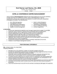 Hotel Management Resume Examples by Hotel And Conference Centre Manager Resume Template Premium