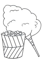 Popcorn Coloring Sheet Eating Popcorn And Coloring Page Popcorn Box Coloring Pages