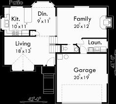 split level floor plans split level house plans 3 bedroom house plans 2 car garage hous