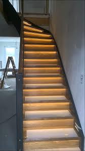 led treppe eiche treppe mit led stufenbeleuchtung