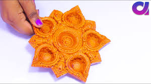 how to decorate floral diya at home very easy diwali decor ideas