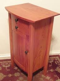Curved Nightstand End Table Hand Made Curved Front Nightstand By Mike Raub Woodworking