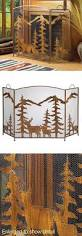 fireplace screens and doors 38221 weathered bronze colored iron