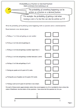 year 6 probability worksheet maths blog