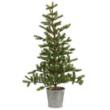 36 green fir trees artificial tree in tin pot reviews