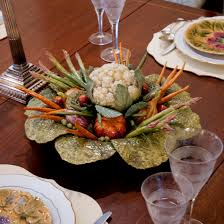dining room dining room table centerpieces with vegetables in