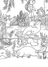 franklin turtle friends playing lake coloring pages