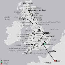 Map Of Wales And England by England Scotland U0026 Wales With Paris