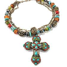 bead cross pendant necklace images Large mayan cross pendant necklace navajo western beaded necklace jpg
