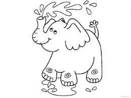 elephant coloring pages kids preschool kindergarten
