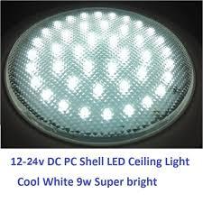 led ceiling dome light 12v 24v dc 220mm cold white led dome light pc shell ceiling l