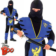 Halloween Costumes Boys Age 9 Blue Ninja Age 8 9 10 Japanese Boys Fancy Dress Child Kids