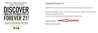 how to apply for forever 21 jobs online at forever21 com careers