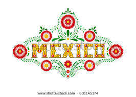 mexico typography travel banner vector stock vector
