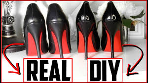 diy louboutin heels diy red bottoms not spray painted easy