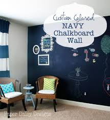 true blue navy chalkboard wall i ve always admired chalkboard walls but i knew black would be to stark in this room i really wanted navy