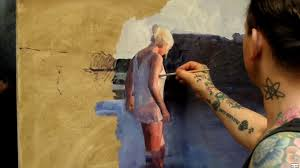artist knut andre vikshåland makes a rough sketch listening to sam