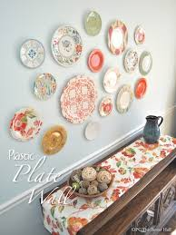 Decorative Plastic Plates Plastic Plate Wall Hack Hometalk