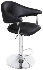 Adjustable Height Chairs Airstream Adjustable Height Barstool In Black Whalen Furniture