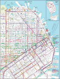 Sf Bart Map Transport Map San Francisco Michigan Map