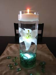 water centerpieces green light centerpiece white centerpiece kit with sea