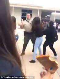 ernest righetti high school yearbook sheriff s deputy knocked out girl while trying to up