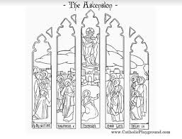coloring page of jesus ascension feast of the ascension coloring page catholic playground