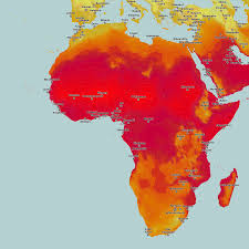 Africa Climate Map by Thematic Maps And City Maps Climate