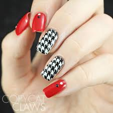 copycat claws houndstooth nail stamping