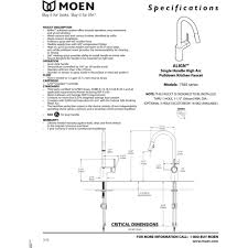 moen 7565 align chrome pullout spray kitchen faucets efaucets com 1