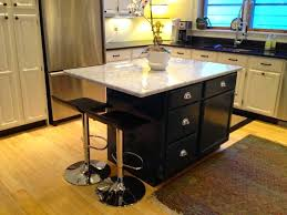 tremendous small kitchen island with stools and white river
