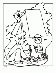 free camping coloring pages print 16629