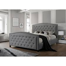 King Bed Frame Upholstered Luxeo Camden Gray King Upholstered Bed K6379 Gry The Home Depot