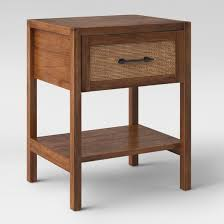 Wood Accent Table Warwick Wood U0026 Rattan Accent Table Threshold Target