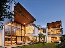 l shaped houses this l shaped home s double height living room opens to the garden