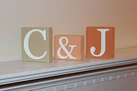 amazon com custom wooden letter blocks distressed blocks room