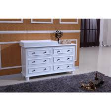 Buy Change Table Beata Chest Of 6 Drawers W Change Table Top White Buy Changing
