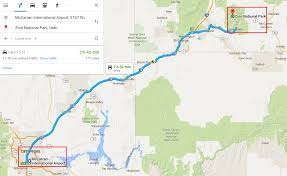 map of zion national park las vegas to zion national park roadtrip and chain hotel options