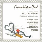 nursing school graduation invitations nursing school graduation invitations and announcements